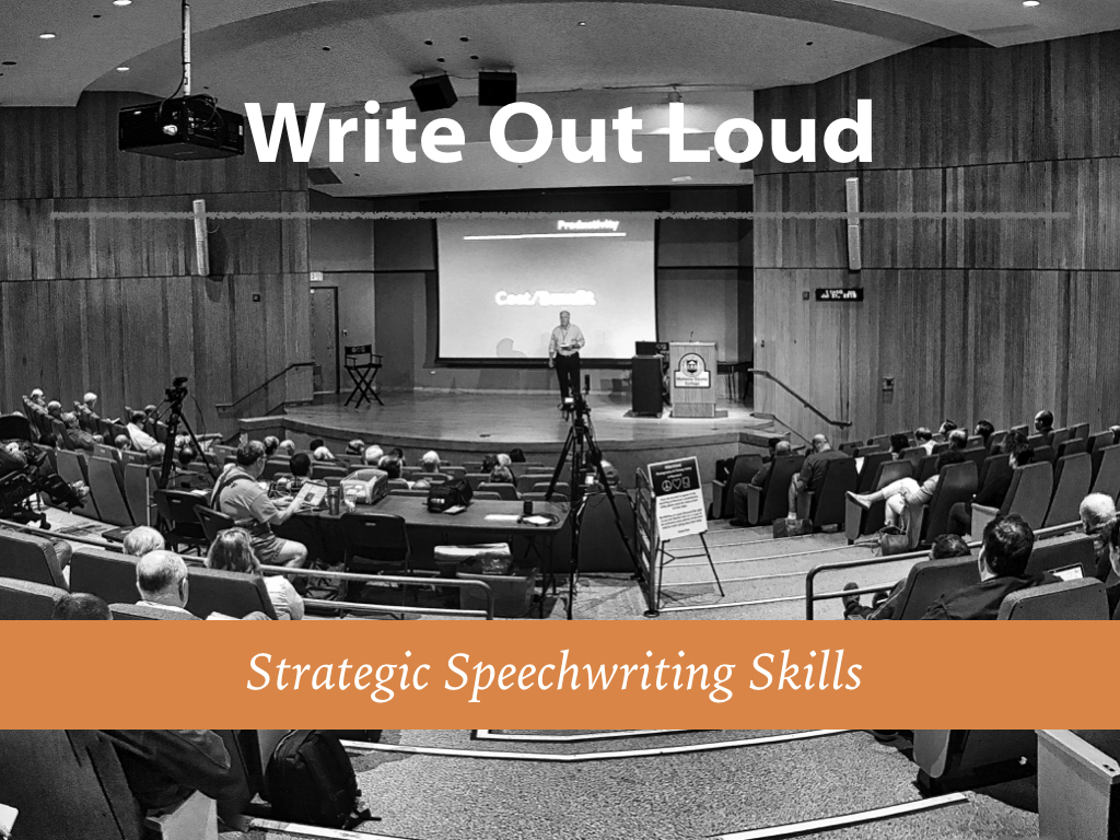 Write Out Loud: Strategic Speechwriting - 1 Day